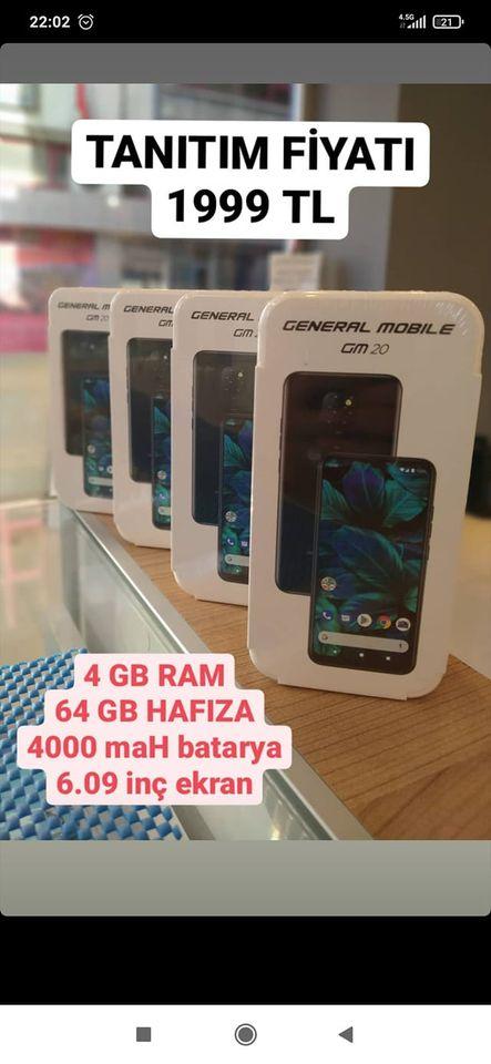 GENERAL MOBİLE GM 20 2. ikinci el fiyatı cep telefonu satılık