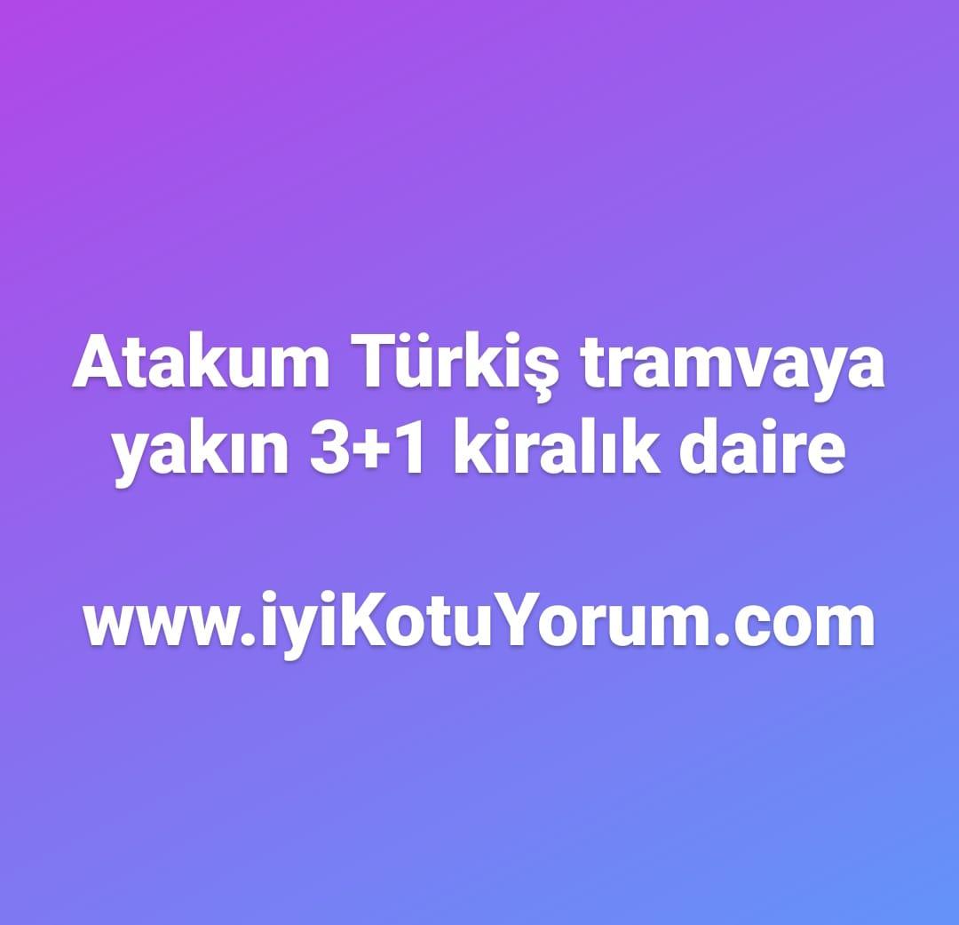 Atakum Türkiş tramvaya yakın kiralık daire ev